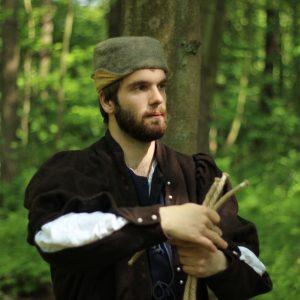 Middeleeuwse goochelaar